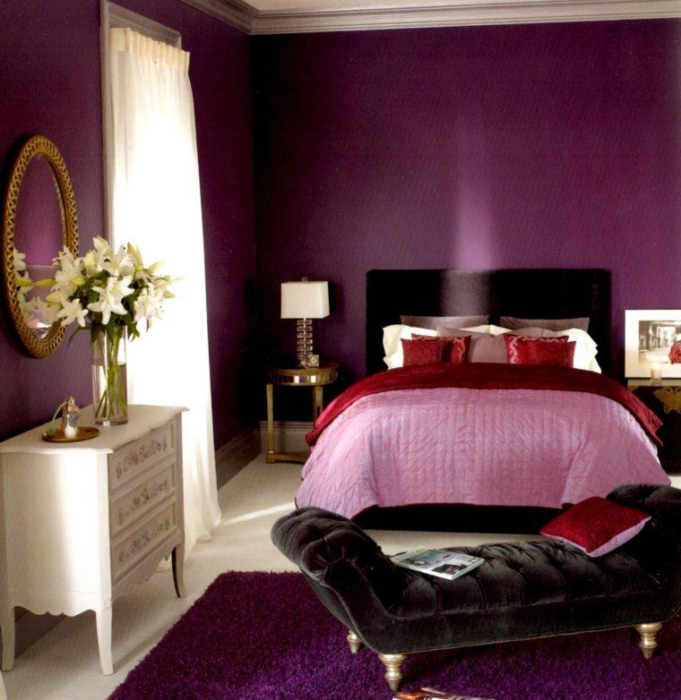 colores de moda para paredes-lila