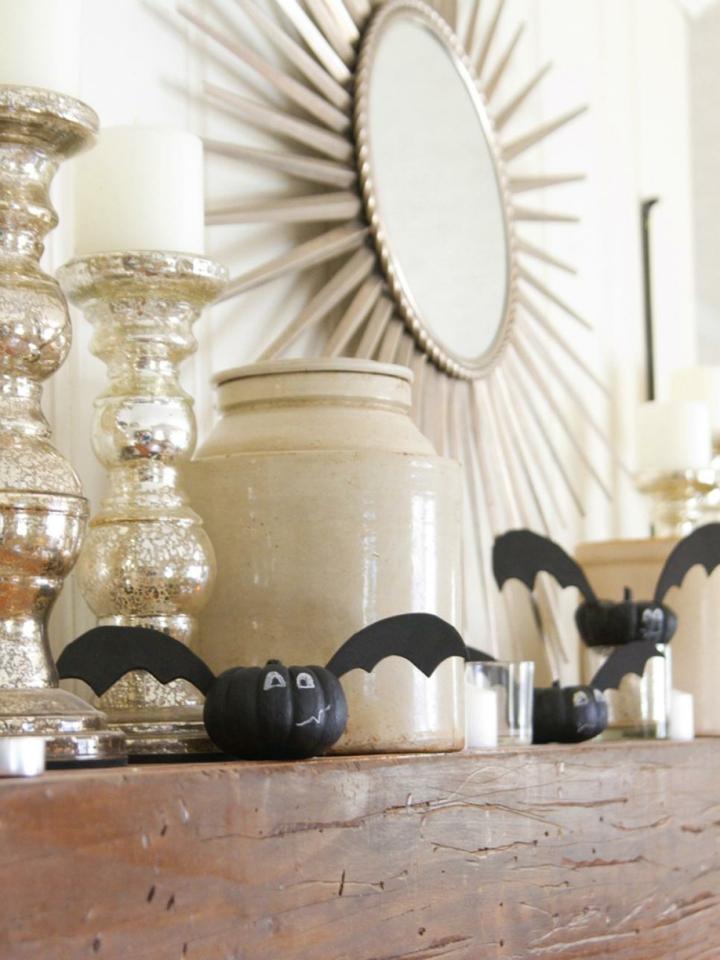 combinacion calabazas murcielagos decorativos