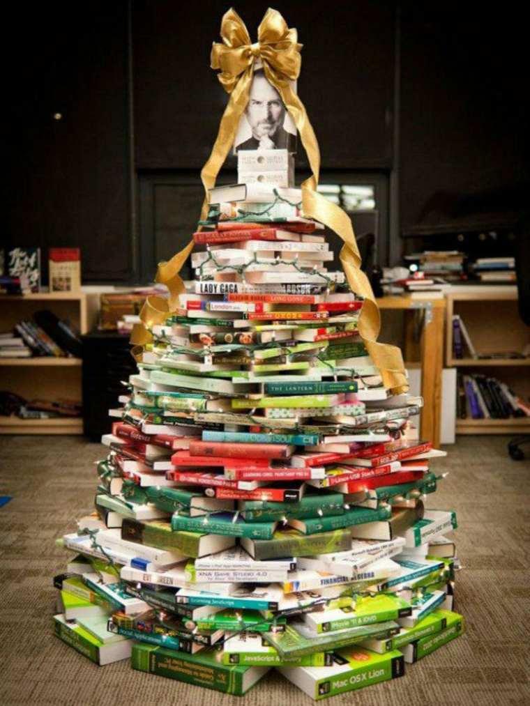 árbol de Navidad de libros
