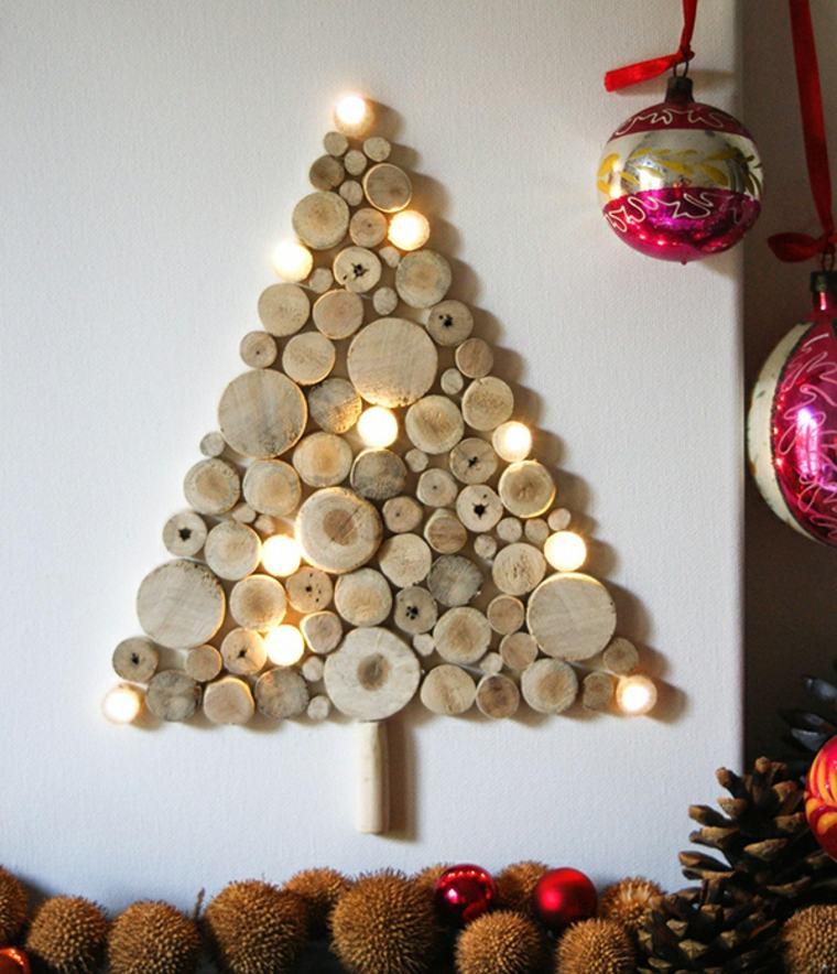 árbol de Navidad de rodajas de madera