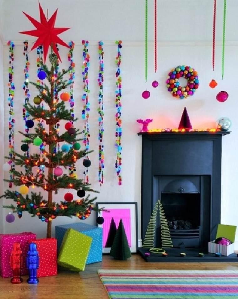 decoración navideña de colores