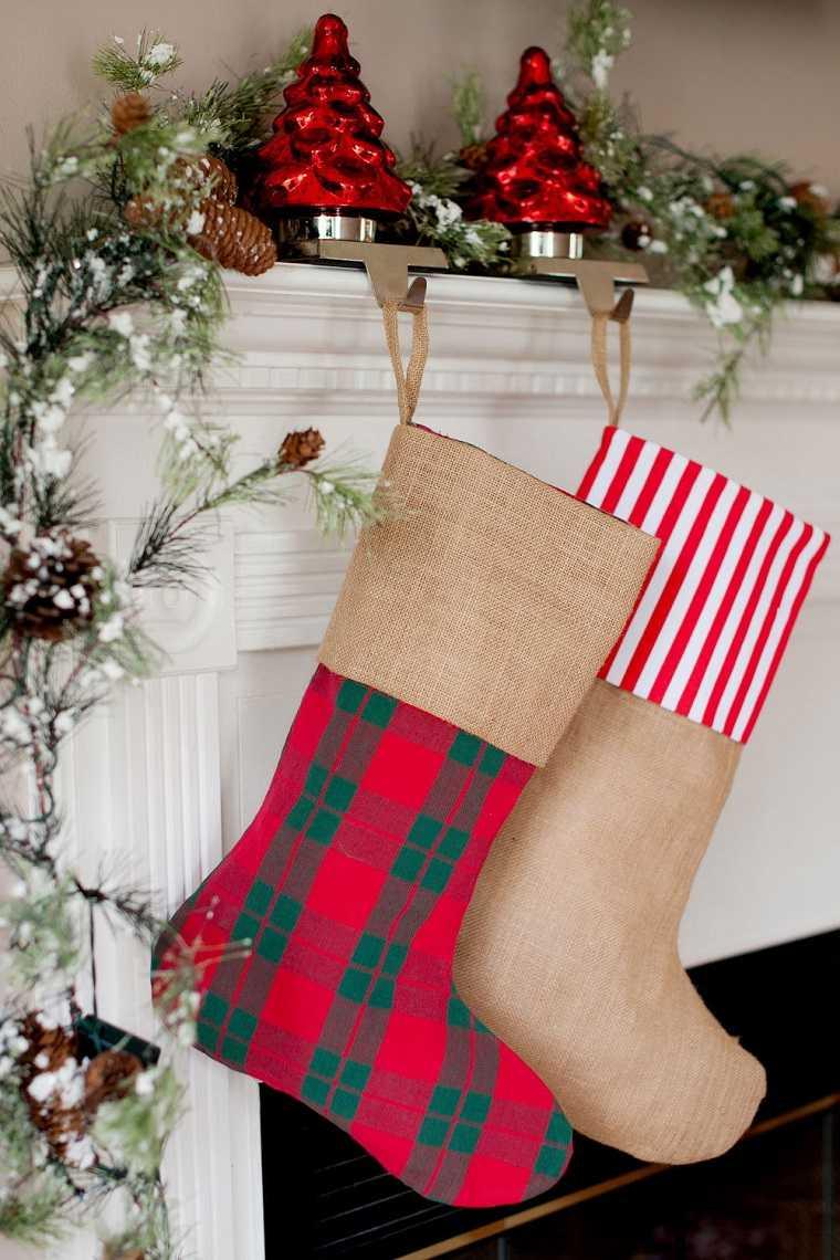 cómo hacer adornos de navidad-calcetines-ideas