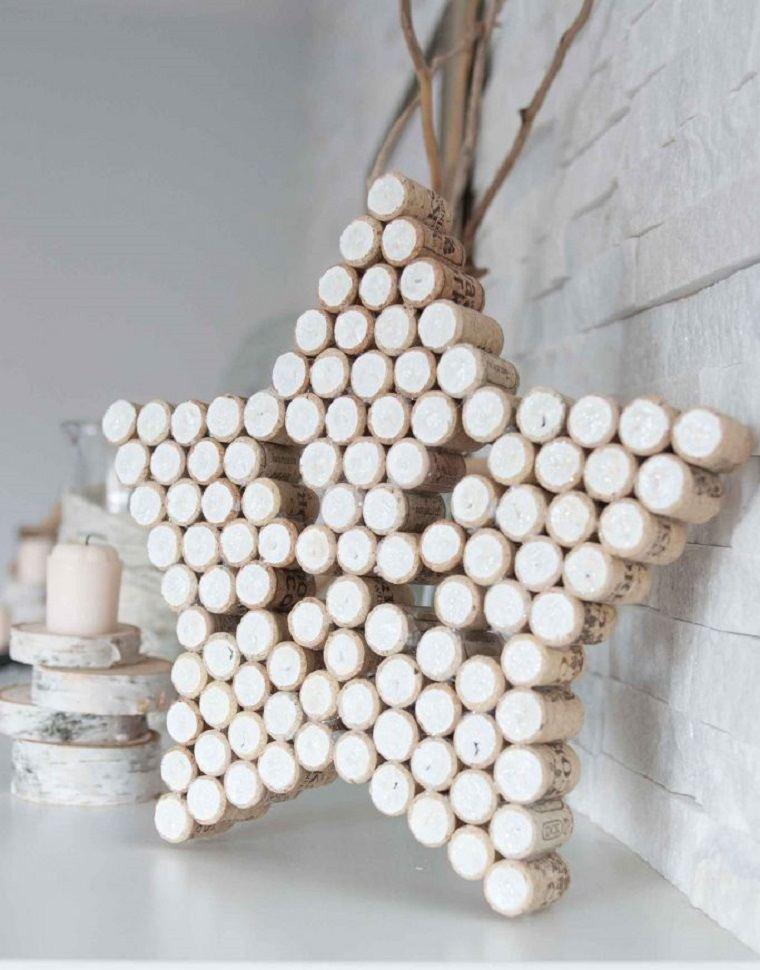 C mo hacer adornos de navidad 40 ideas para aprovechar - Como hacer estrellas de navidad ...
