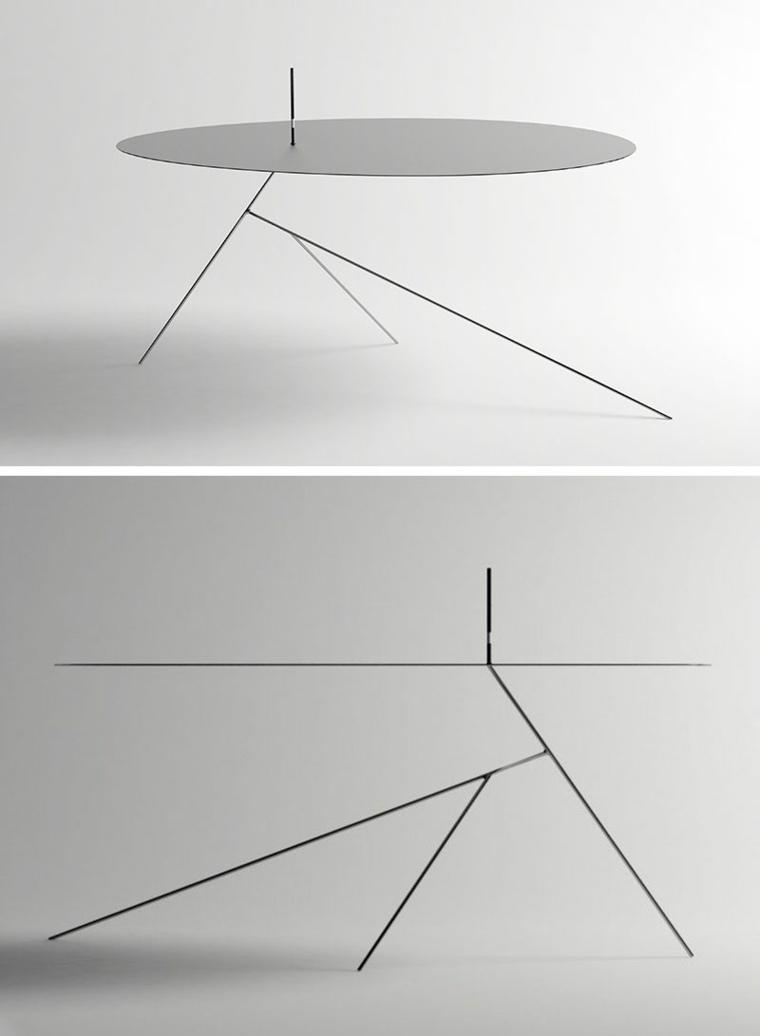 concepto minimalista mesa patas