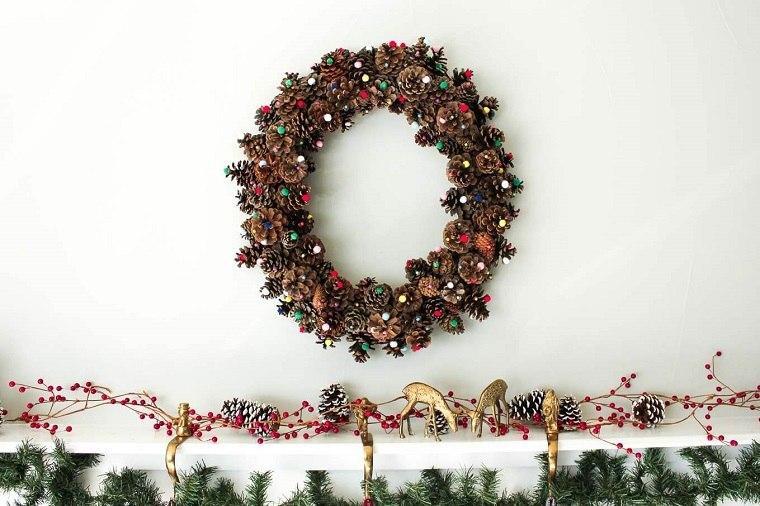 corona-decora-pared-navidad-diseno