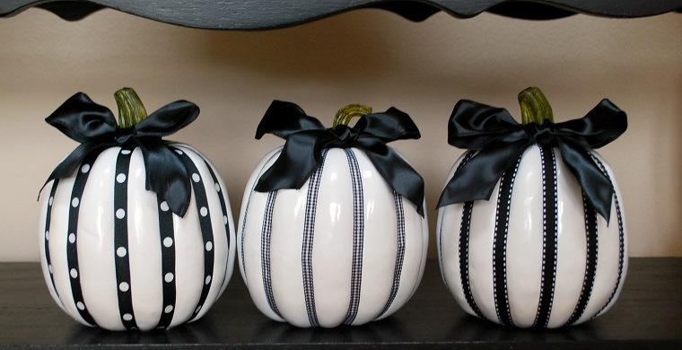 decoracion-blanco-negro-calabazas-opciones