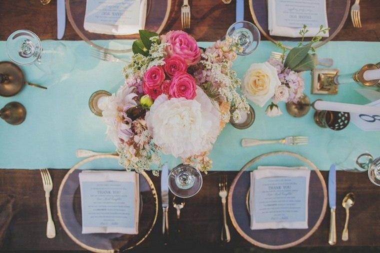 decoración bodas vintage-flores-frescas-opciones