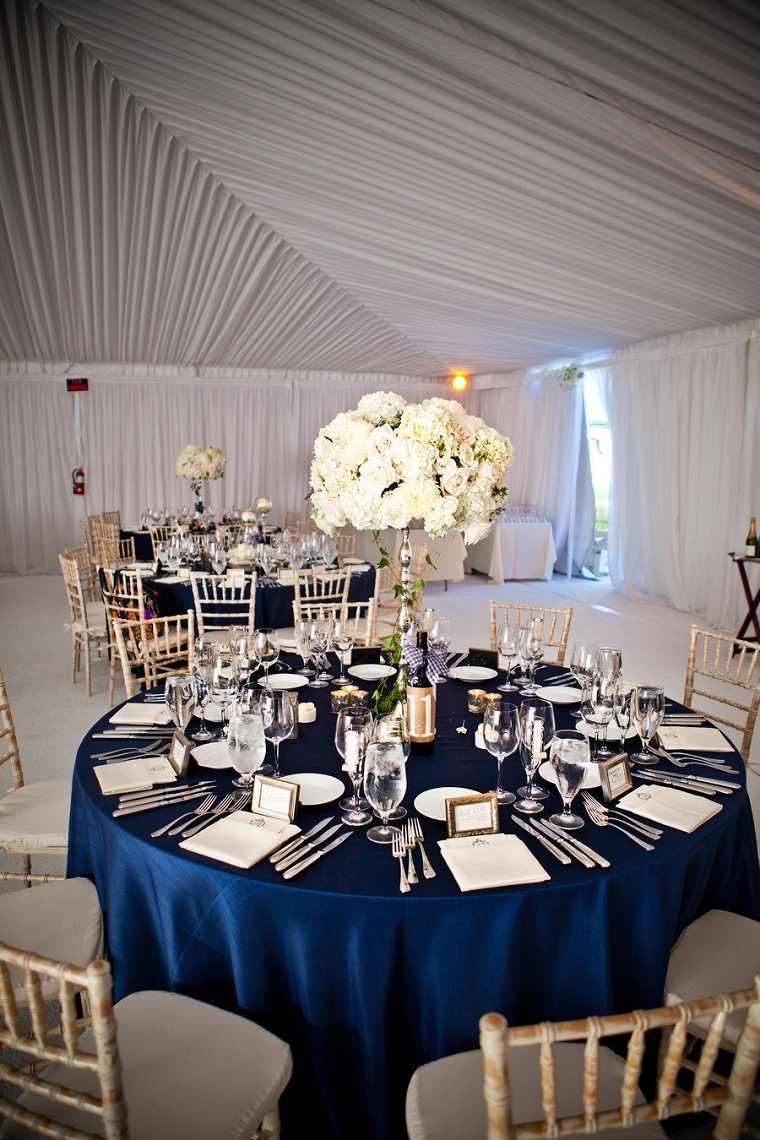 decoración bodas vintage-modernas-azul-navy
