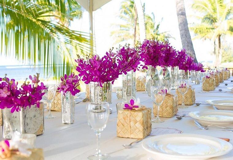 decoración bodas vintage-modernas-esquema-color-flores