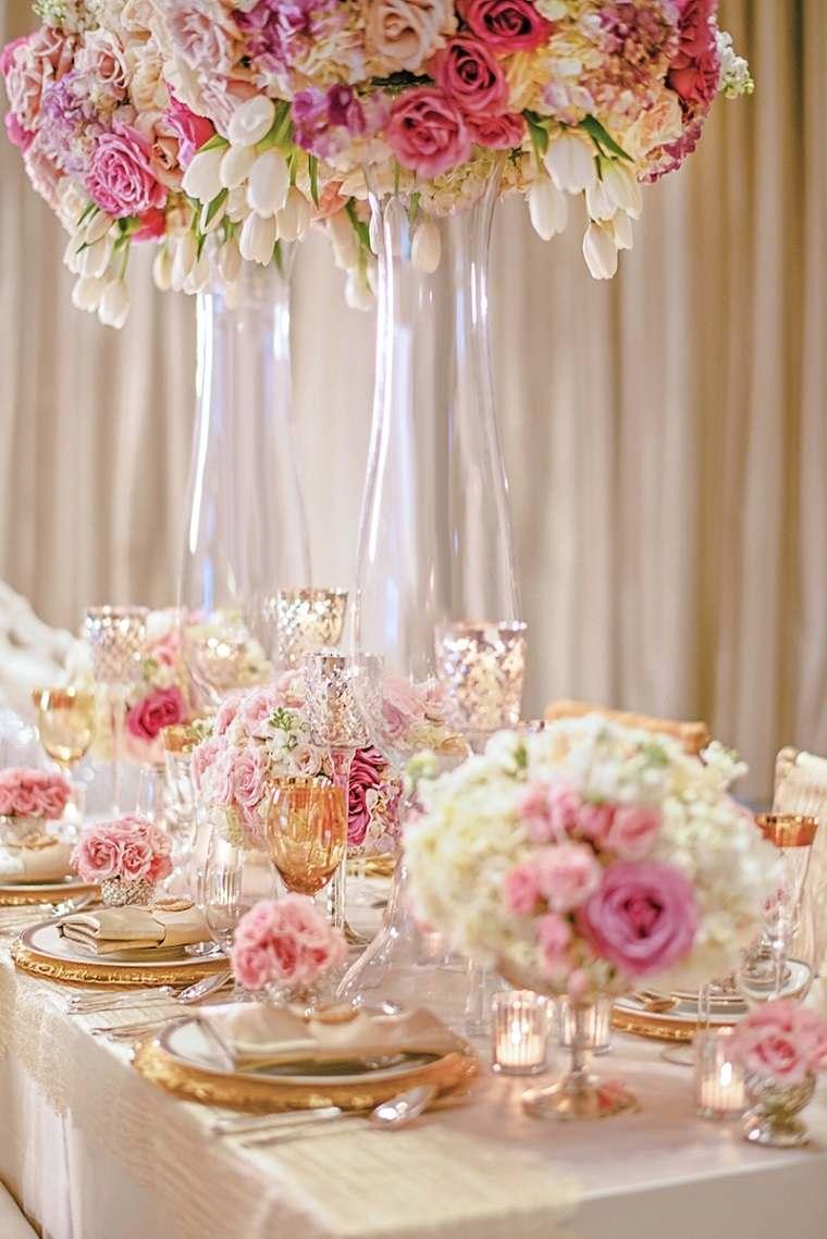 decoracion-bodas-vintage-modernas-flores-rosa