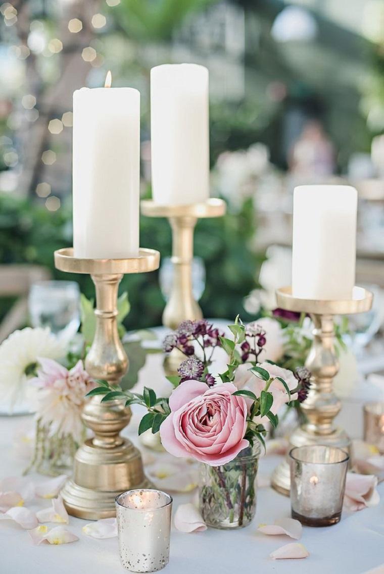 decoracion-bodas-vintage-modernas-velas-opciones