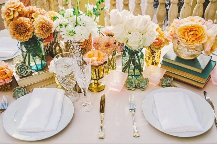 decoración bodas vintage opciones-mesa-centro-diseno
