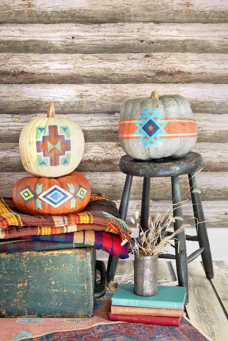 decoracion-calabazas-estilo-tribal-original