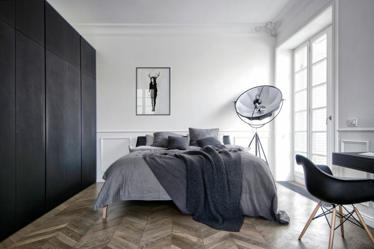 decoracion-minimalista-dormitorio-blanco-gris