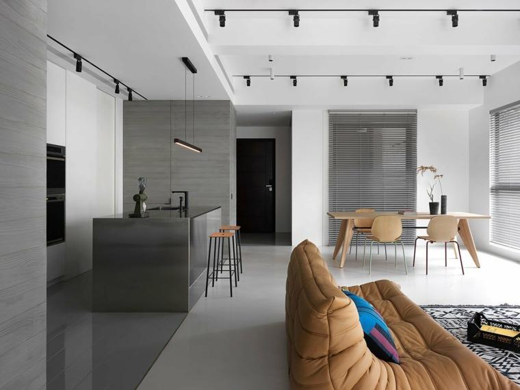 decoración minimalista salon-estilo-modenro