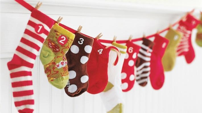 decoracion navidad diy calendario