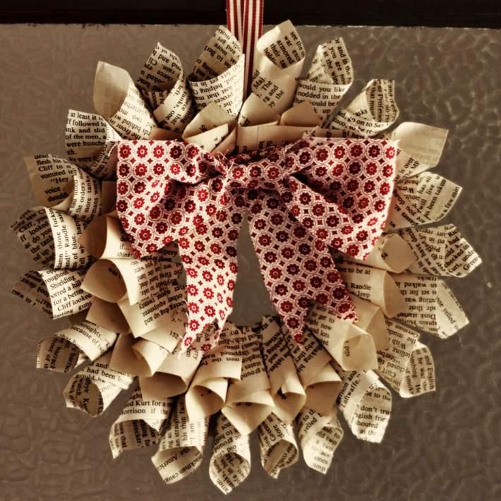 decoracion navidad diy papel recortado