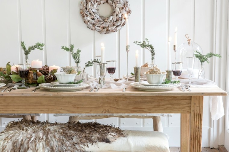 decoración navideña original-comedor