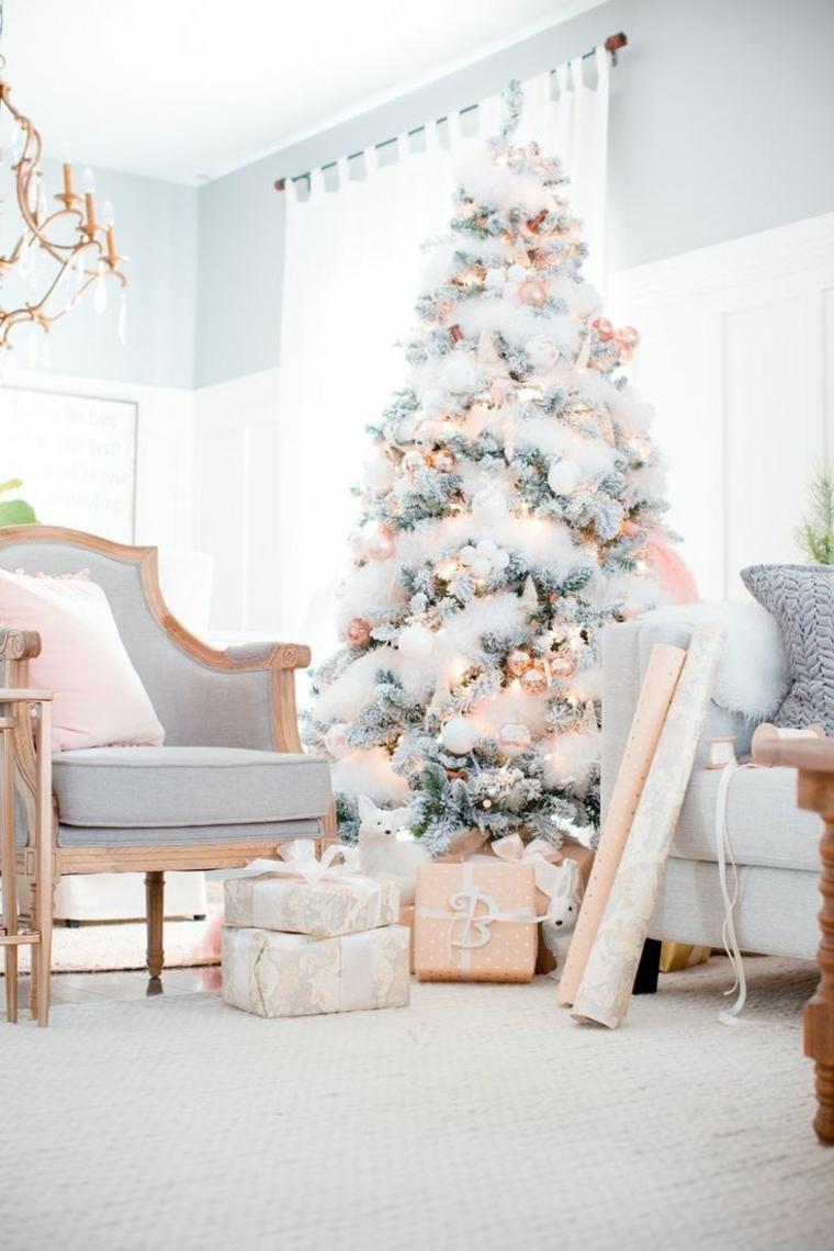 decoracion-navidena-rosa-oro-blanco-arbol-navideno-original