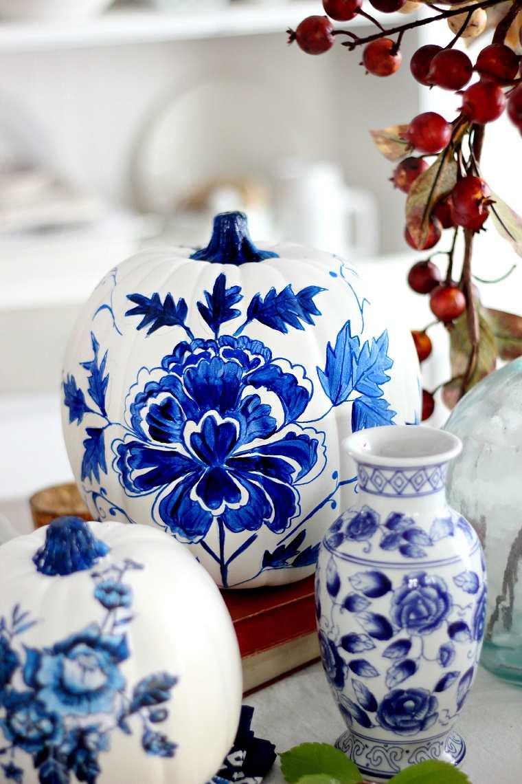 decorar calabazas-metalicas-ideas-porcelana