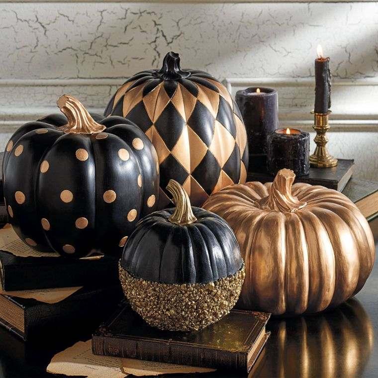 decorar-calabazas-opciones-negro-oro