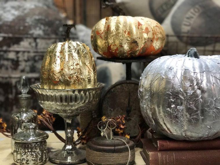 decorar calabazas-opciones-originales-plata