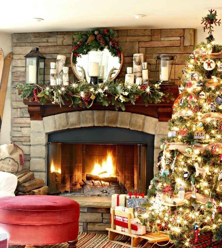 decorar-chimenea-navidad-fiesta-opciones