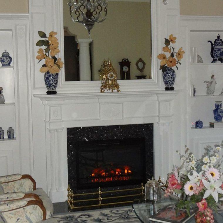 decorar chimeneas espejo-con-flores