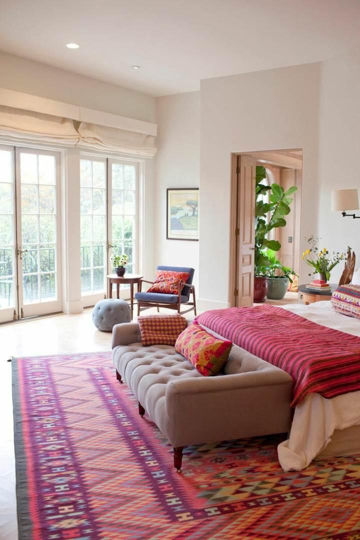 detalles rosa diferentes alfombras