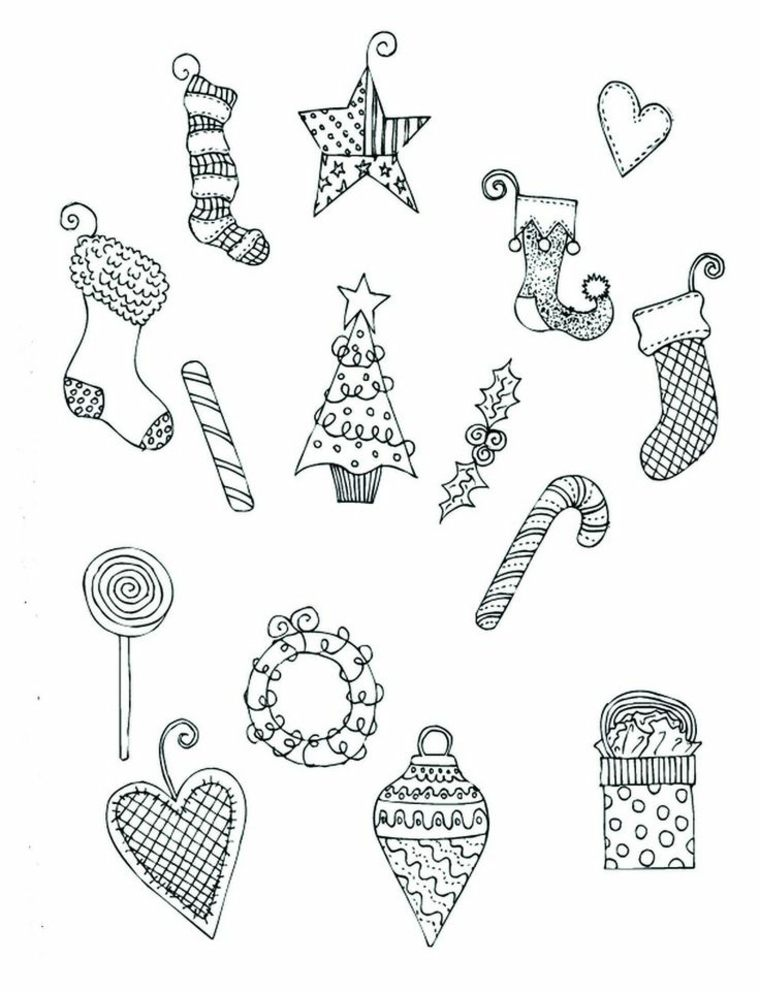 Dibujos De Navidad Para Colorear Y Qué Símbolos Representan