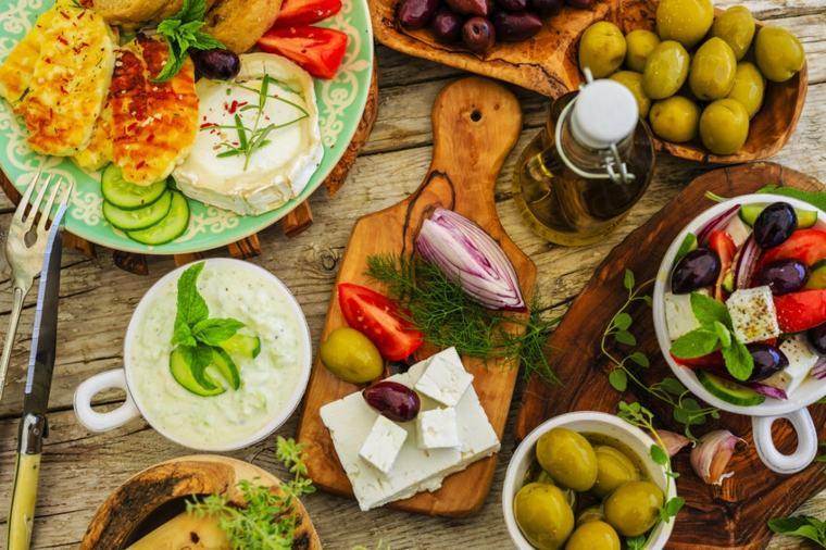 productos mediterráneos sabrosos