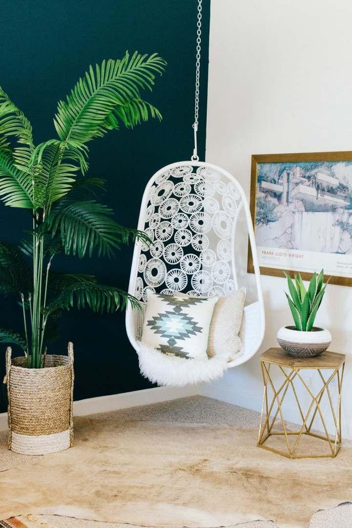 diseño bohemio alfombras plantas