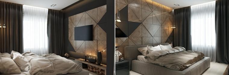 diseños geometricos cortinas oscuras