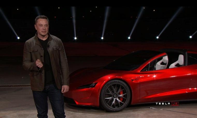 Tesla Roadster presentación