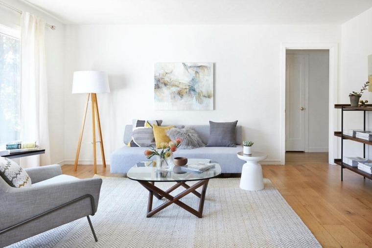 diseño de sala de estar escandinava