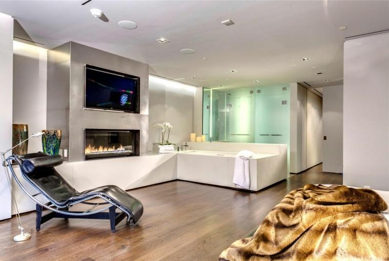 dormitorios-con-chimeneas-modernas-bano-abierto