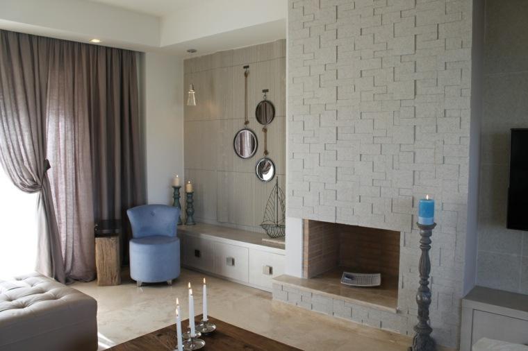 Dormitorios con chimeneas modernas – 30 Ideas originales