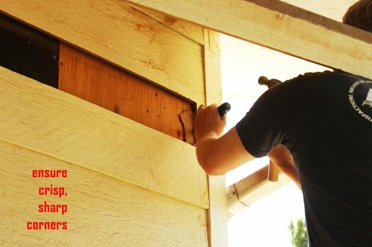 eliminado bordes filosos madera