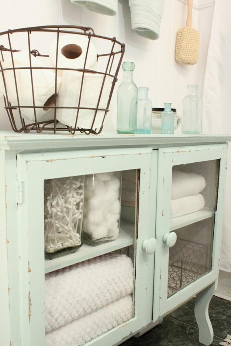espacios sala baño vintage