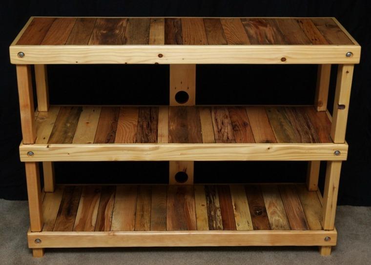 Mesas con palets originales y muy f ciles de hacer - Estanteria con palets ...