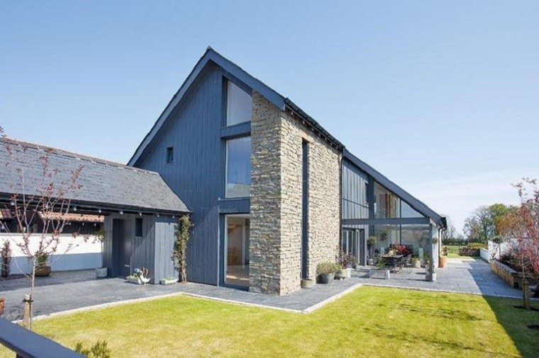 Fachadas de casas modernas con piedra casas de piedra for Fachada de casas modernas con piedras