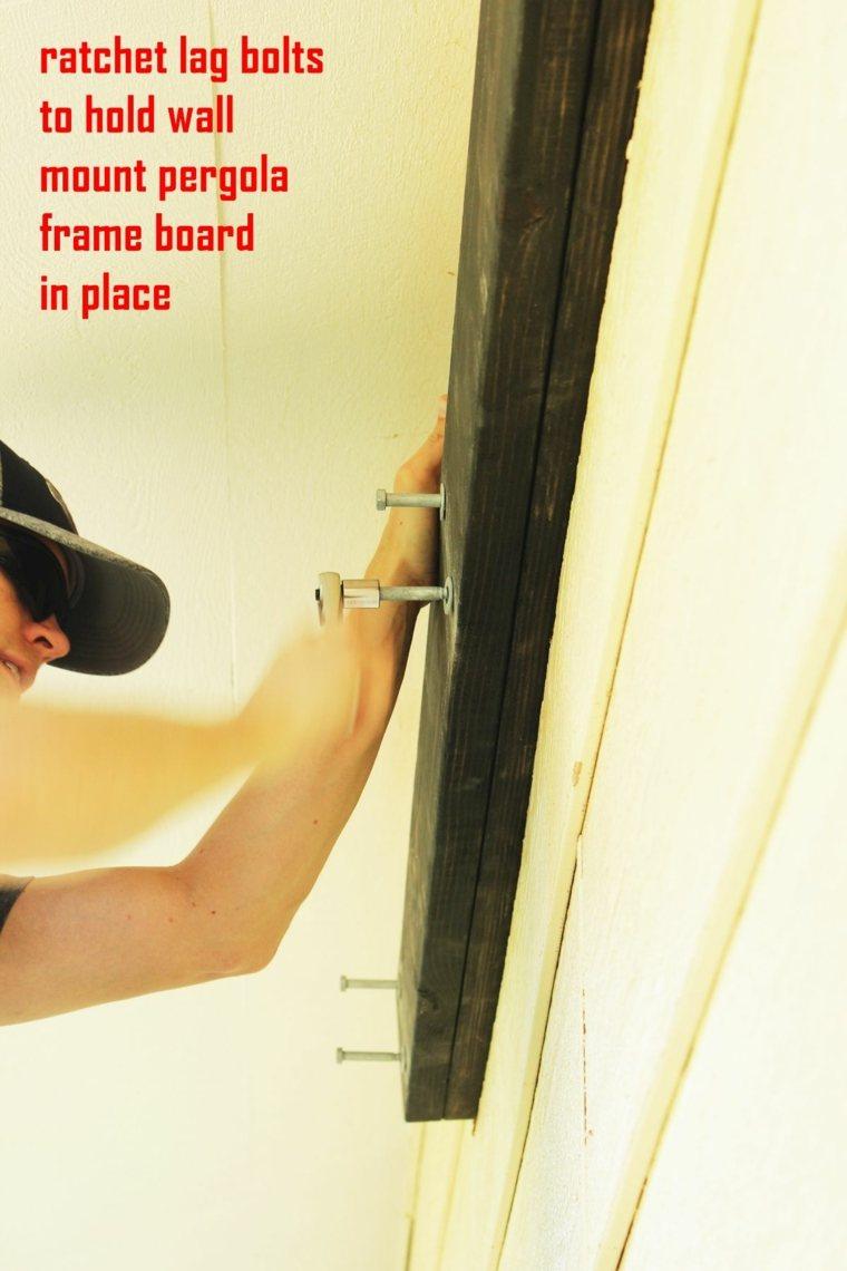 fijando extremos madera paredes