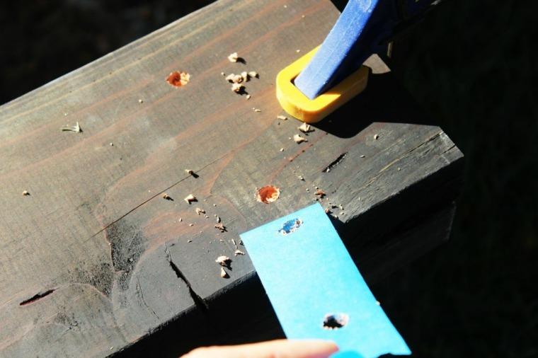 formas para agujeros madera
