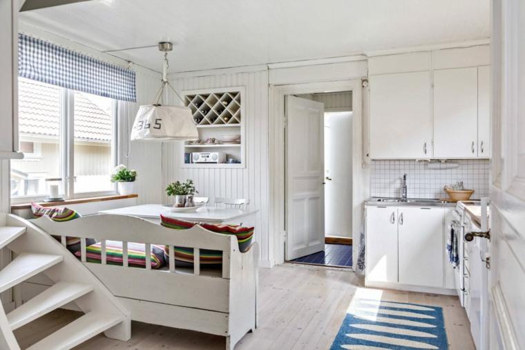 fotos de cocinas rústicas-diseno-madera-blanca