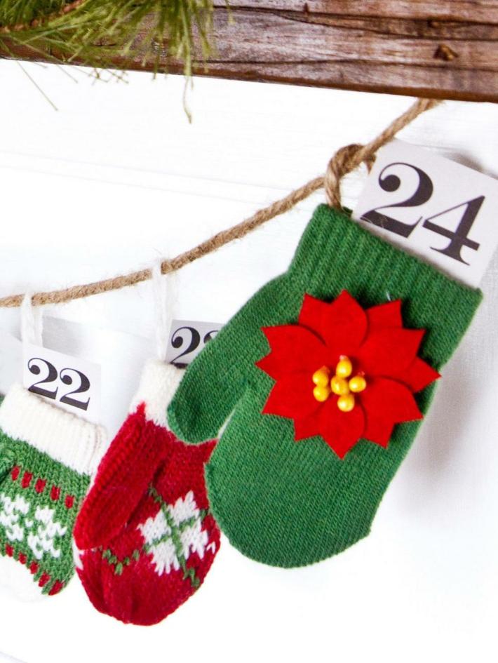 guantes adviento ideas calendario