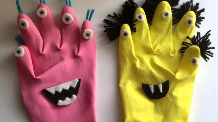 guantes vampiros rosa especiales efectos