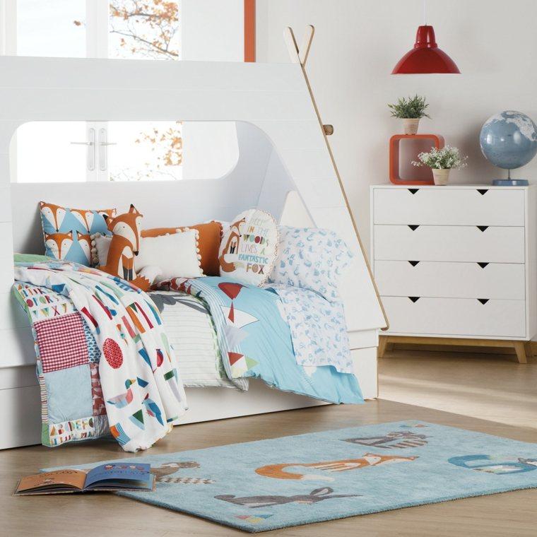 habitaciones infantiles alfombras modernas