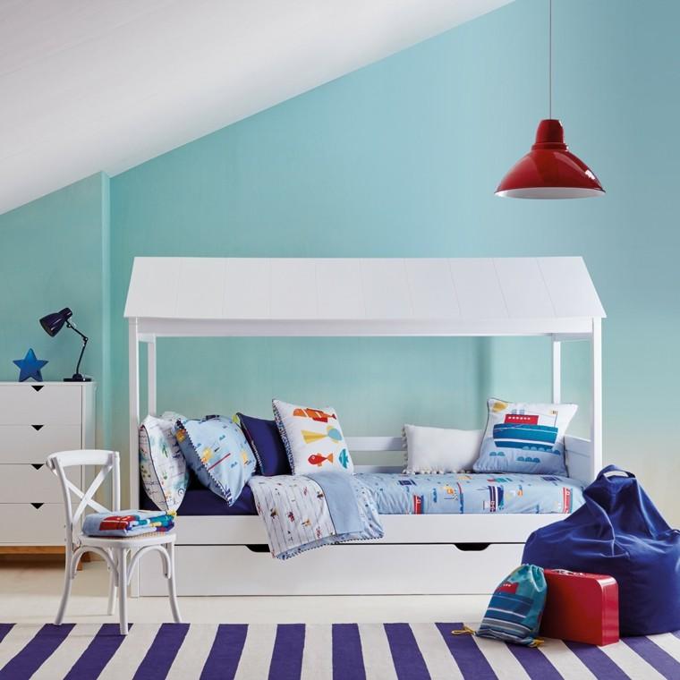 habitaciones infantiles ideas cubierta blanca
