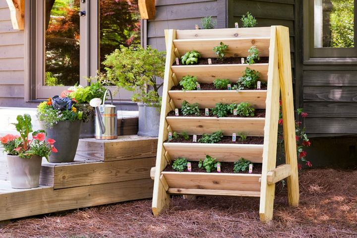 ideas con palets efectivas jardines