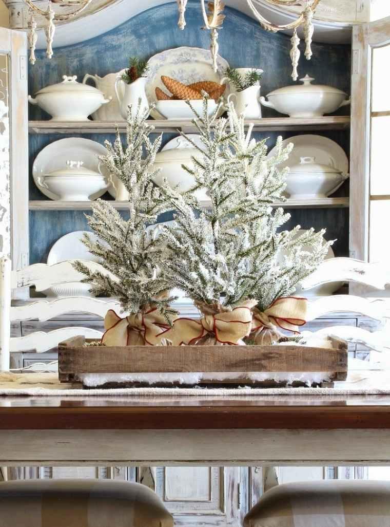 ideas para navidad-arbol-comedor-mesa-decoracion